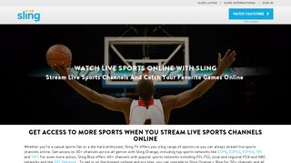 Easily Watch Live Sports Online Anytime, Anywhere | Sling TV