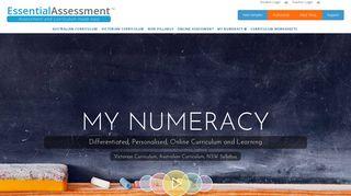 My Numeracy - Essential Assessment, online maths, maths online