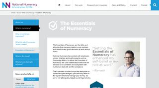 The Essentials of Numeracy - National Numeracy