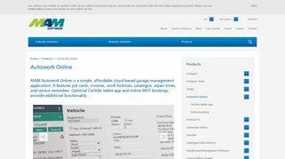 Autowork Online - MAM Software