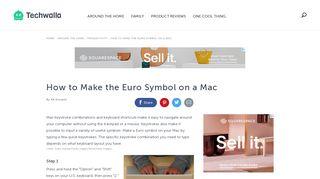 How to Make the Euro Symbol on a Mac   Techwalla.com