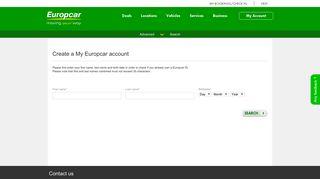 My Europcar - My Account - Europcar car rental