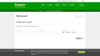 Sign Up - Europcar