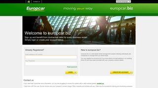 europcar.biz: Login