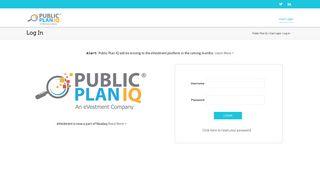 Log In | Public Plan IQ