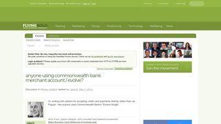 anyone using commonwealth bank merchant account / evolve?   Small ...