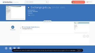 40 Similar Sites Like Exchange.gnb.ca - SimilarSites.com