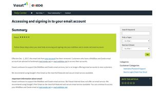 Accessing and signing in to your email account - exede   Wildblue