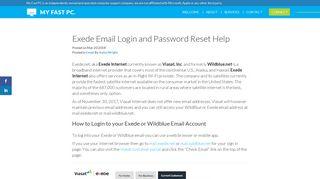 Exede (Viasat, Wildblue) Email Login and Password Reset Help
