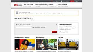 Internet Banking - Log on: HSBC Expat