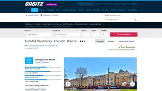 Extended Stay America - Charlotte - University Place in Charlotte ...