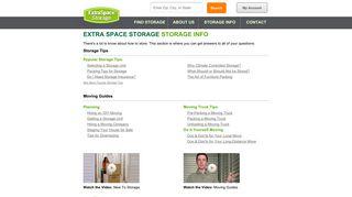 Storage Info | Extra Space Storage