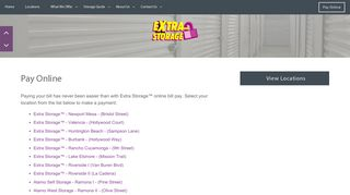 Pay Online | Extra Storage™