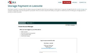 Pay Online Option | Extra Space Leesville - Self-Storage