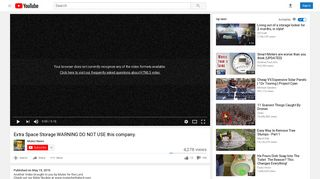 Extra Space Storage WARNING DO NOT USE this company. - YouTube