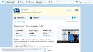 EyeTV 3.6.9 free download for Mac   MacUpdate
