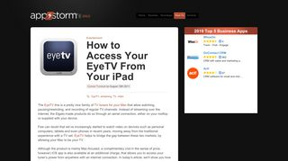 How to Access Your EyeTV From Your iPad « iPad.AppStorm
