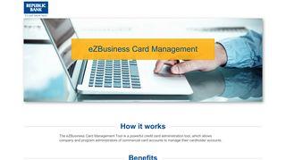 eZBusiness Card Management | Republic Bank