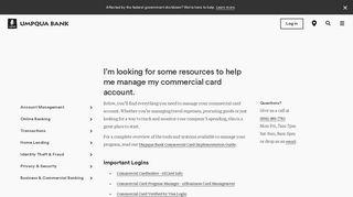Commercial Card Management - Umpqua Bank