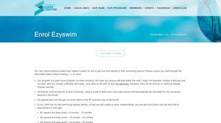 Enrol Ezyswim - Mosman Swim Centre