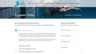 Ezyswim FAQs - Mosman Swim Centre