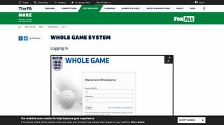 Whole Game System - The website for the English football association ...