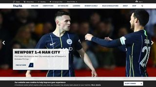 The website for the English football association, the Emirates FA Cup ...