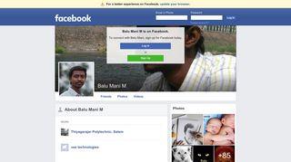 Balu Mani M   Facebook