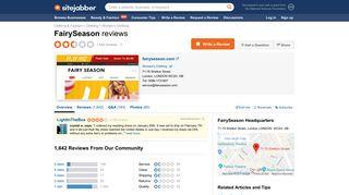 FairySeason Reviews - 1,545 Reviews of Fairyseason.com | Sitejabber