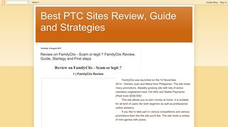 Best PTC Sites Review, Guide and Strategies: Review on FamilyClix ...