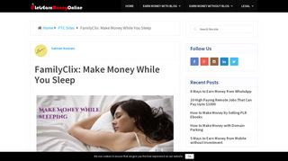 FamilyClix: Make Money While You Sleep - Let's Earn Money Online