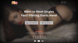 Flirt.com: Be Fast! Flirting Starts Today!