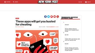 These apps will get you busted for cheating - New York Post