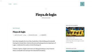 Login www finya Finya: Erfahrungen