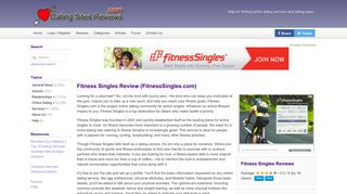 Fitness Singles Review (FitnessSingles.com) - Dating Sites Reviews