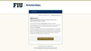 Sign In - FIU Scholarships - FIU AcademicWorks