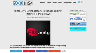 FliXanity Kodi Add-on Install Guide: Movies & TV Shows - Kodi Tips