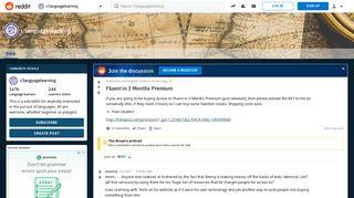 Fluent in 3 Months Premium : languagelearning - Reddit