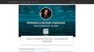 Fluent in 3 Months Premium 2.0 - Review (for Japanese)