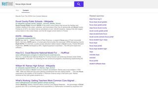 focus dcps duval - NetFind - Content Results