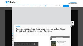 Focus on respect, collaboration to solve Indian River ... - TCPalm.com