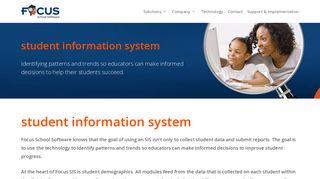 Student Information System – Focus School Software