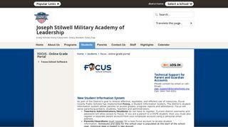 FOCUS - Online Grade Portal / Focus School Software - Duval County ...