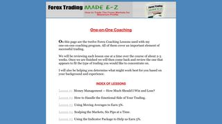 Forex Coaching Lessons | Forex Trading Made E-Z