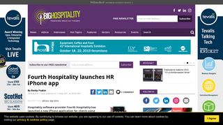 Fourth Hospitality launches HR iPhone app - Big Hospitality
