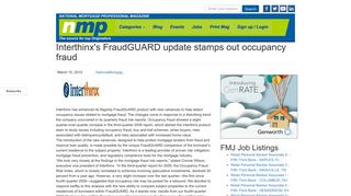 Interthinx's FraudGUARD update stamps out occupancy fraud