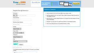 User Registration - Free SMS