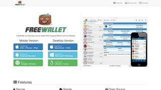 FreeWallet - Free Wallet for Bitcoin and Counterparty