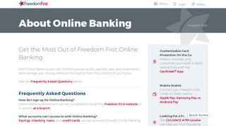 About Online Banking - Freedom First Credit Union