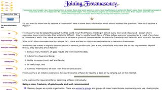 Joining Freemasonry